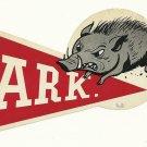 1958 Arkansas Razorbacks Humble Oil Decal/Schedule