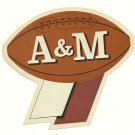 1960 Texas A&M Aggies Humble Oil Decal/Schedule