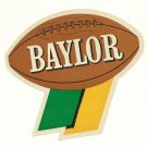 1960 Baylor Bears Humble Oil Decal/Schedule