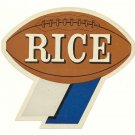 1960 Rice Owls Humble Oil Decal/Schedule