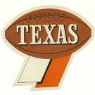 1960 Texas Longhorns Humble Oil Decal/Schedule