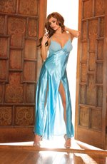 (Large) Front Slit Charmeuse Gown