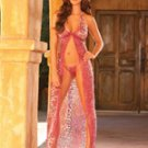 (Large) Halter Neck Animal Print Gown