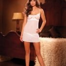 (2x White) Embroidered Cup Babydoll