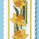 Daffodils Bookmark Counted Cross Stitch Kit Welsh