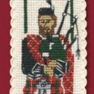 Scottish Piper Bookmark Counted Cross Stitch Kit