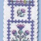 Scottish Tartan Thistles Bookmark Counted Cross Stitch Kit