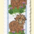 Scottish Wee Hieland Coos Bookmark Counted Cross Stitch Kit