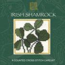 Irish Shamrock Counted Cross Stitch Card Kit