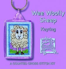 Irish Wee Woolly Sheep Keyring Counted Cross Stitch Kit