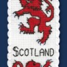 Lion Rampant Bookmark Counted Cross Stitch Kit Welsh