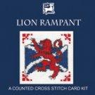 Lion Rampant Counted Cross Stitch Card Kit