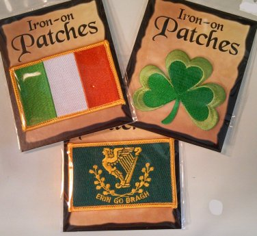 Irish Patches - Set of Three (Free Shipping)