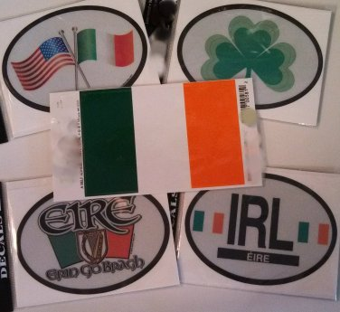 Ireland Stickers - Set of Five (Free Shipping)