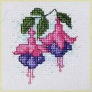 Fuchsia Counted Cross Stitch Card Kit