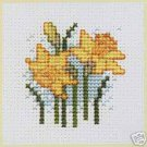 Daffodil Counted Cross Stitch Card Kit
