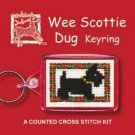 Wee Scottie Dug Keyring Counted Cross Stitch Kit