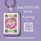 MacKintosh Rose Keyring Counted Cross Stitch Kit