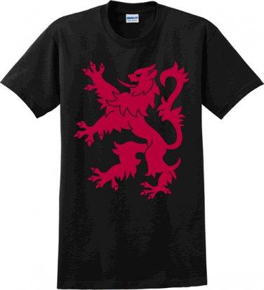Rampant Lion Black t-shirt - Size Large