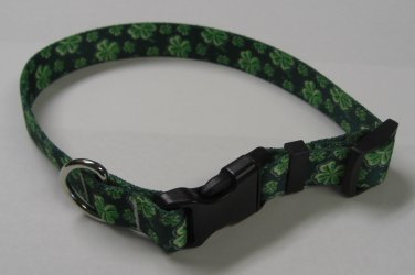Dog Collar - 4 Leaf Clover - size Extra Small