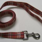 Dog Lead - Red Tartan - Medium 3/4""
