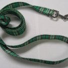 Dog Lead - Green Tartan - Medium 3/4""