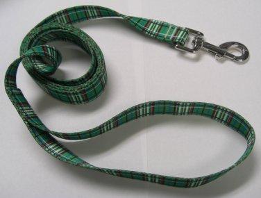 "Dog Lead - Green Tartan - Medium 3/4"""