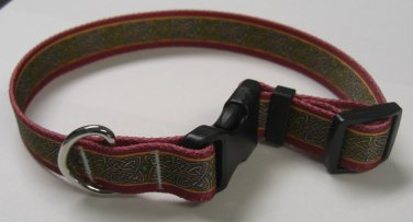 Dog Collar - Celtic Knotwork - size Medium