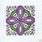 Celtic Lavender Cross - Cross Stitch chart