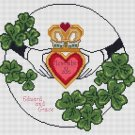 Wedding Claddagh Counted Cross Stitch Chart