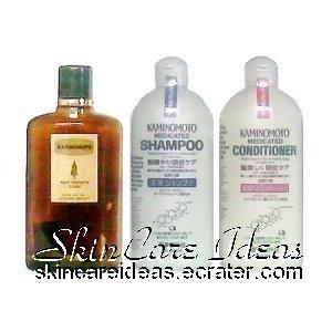 Kaminomoto Hair Tonic Silver, Medicated Shampoo & Conditioner