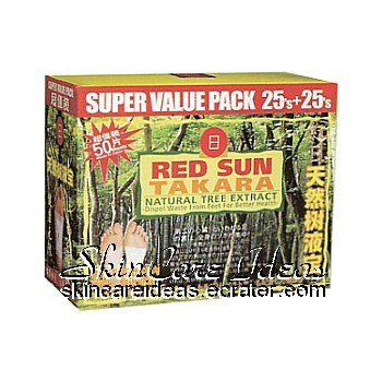 Red Sun Takara Natural Tree Extract Foot Patch (50 pieces)