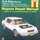 Chrysler Full Size Models 1988 thru 1993 Front Wheel Drive Haynes Repair Manual