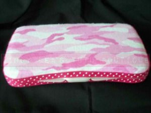 Custom Baby Wipes TRAVEL Case | PINK FLANNEL CAMO