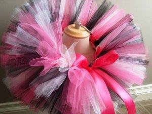 'MONICA' baby girls bows 'n bling tutu