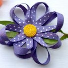 PURPLE POLKA DOT FLOWER | CLIPPIE