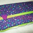 Custom Baby Wipes TRAVEL Case | PURPLE PIZZAZ