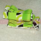 LIME GREEN and BLACK tuxedo bows | clippie