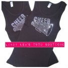 CHEER -black- | rhinestone tank top