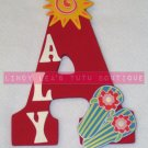 SUMMER LOVE - Wooden Initial and name