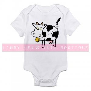 MOO COW    infant bodysuit
