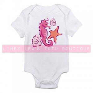 SEAHORSE, STARFISH & SHELL |  infant bodysuit