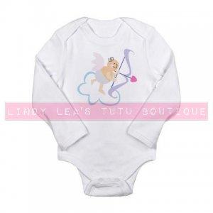 CUPID w ARROW |  infant LONGSLEEVE bodysuit