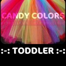 'CANDY COLORS' toddler girls tutu