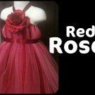 'RED ROSE' | TODDLER girls special occasion tutu dress