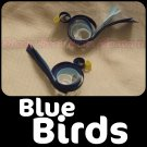 BLUE BIRDS | set of 2 clippies