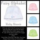 FAIRY ALPHABET   personalizable baby beenie