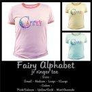 FAIRY ALPHABET | personalizable jr ringer tee
