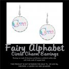 FAIRY ALPHABET | personalizable circle charm earrings