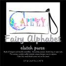 FAIRY ALPHABET | personalizable clutch bag